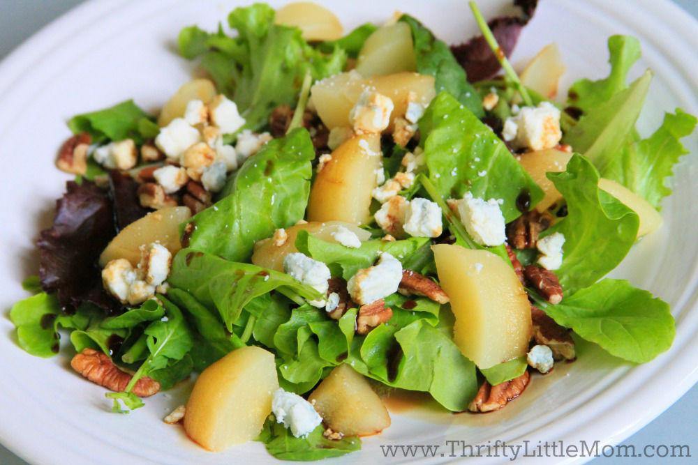 DIY Gormet Pear, Pecan & Blue Cheese Salad