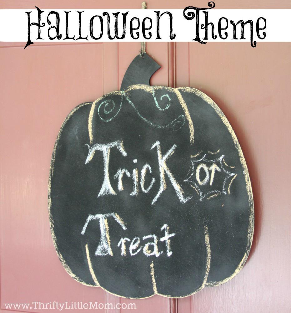 DIY Halloween Chalkboard Pumpkin