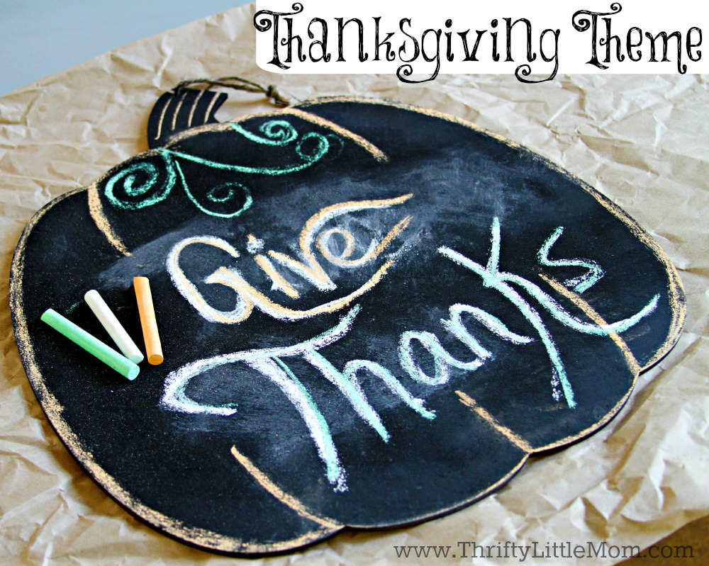 DIY Thanksgiving Chalkboard Pumpkin