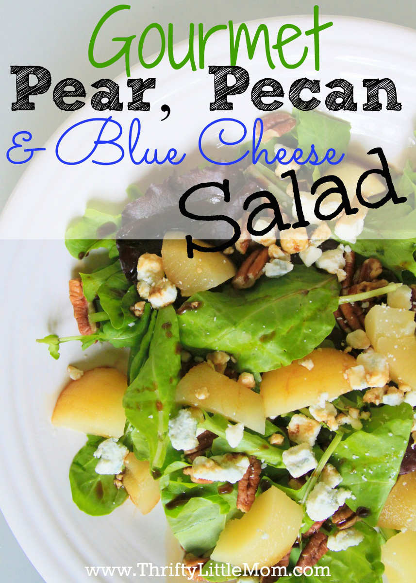 Gourmet Pear, Pecan and Blue Cheese salad