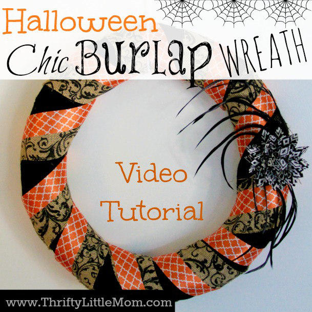 How To Make a Chic Burlap Halloween Wreath