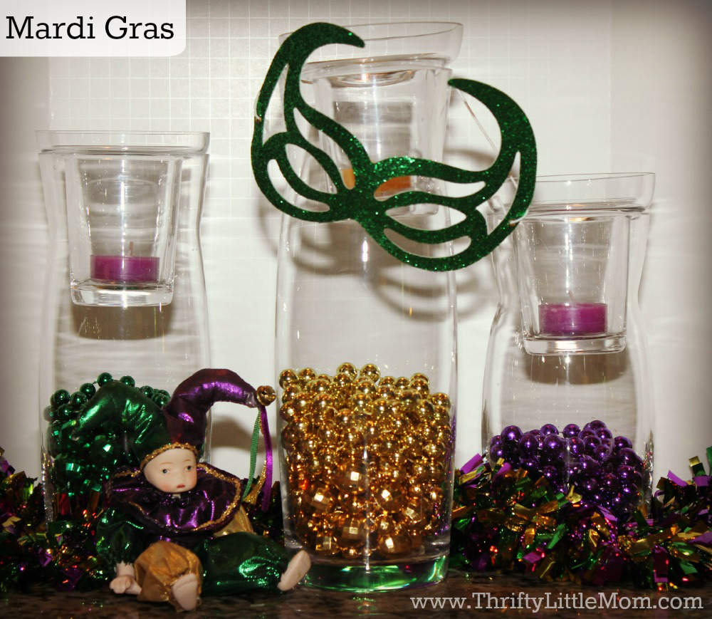 Mardi Gras Simple Mantel Display