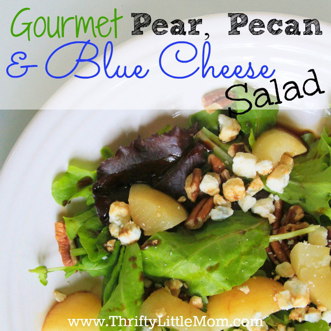 Pear, Pecan and Blue Cheese Salad Square