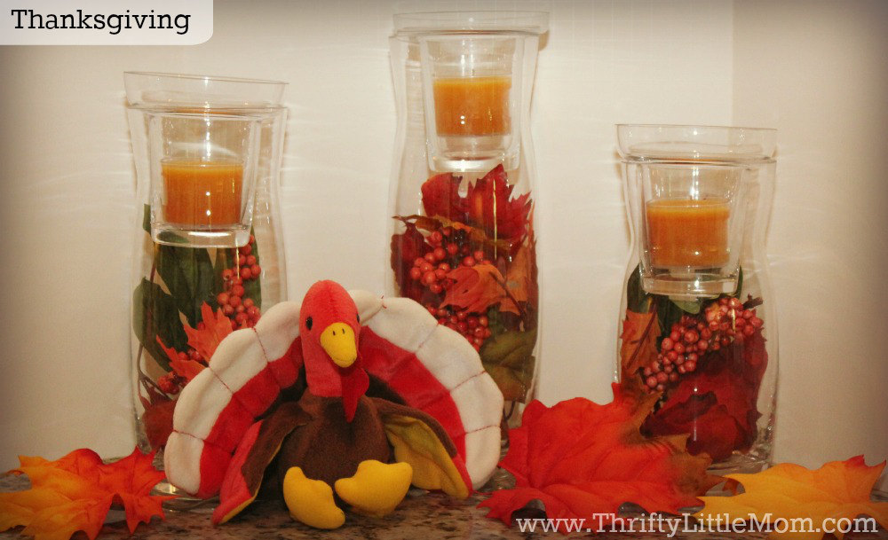Thanksgiving Simple Mantel Display