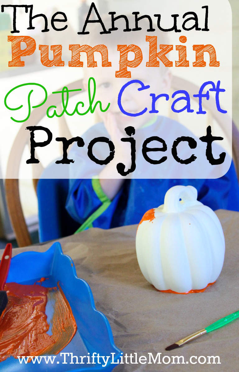 The Annual Pumpkin Patch Craft Project. Start an annual tradition with your kids this fall that will create lots of great decor and memories!