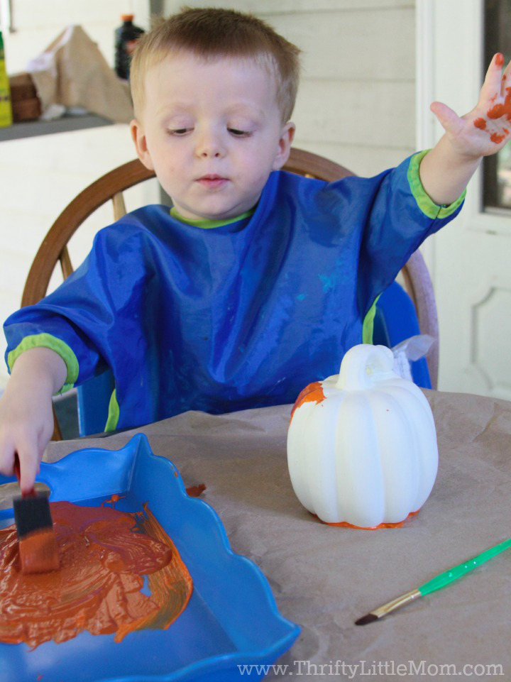 The Annual Pumpkin Patch Project Paint Brush