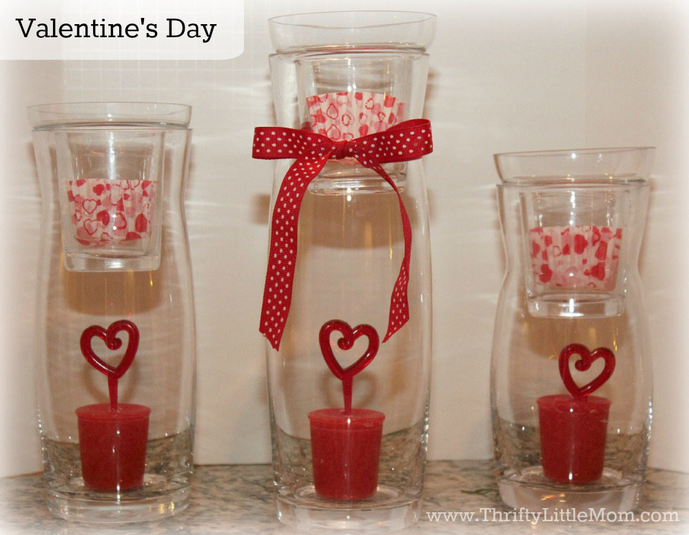 Valentines Day Simple Mantel Display