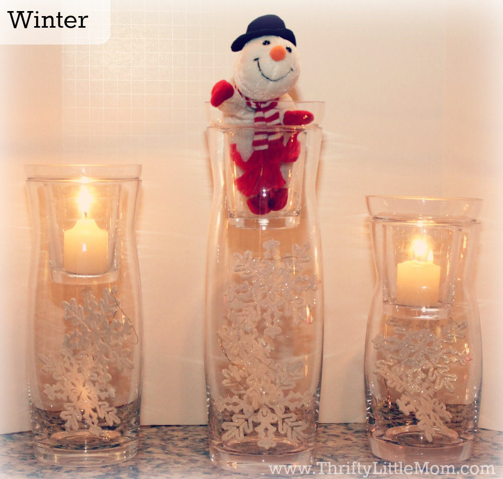 Winter Simple Mantel Decor