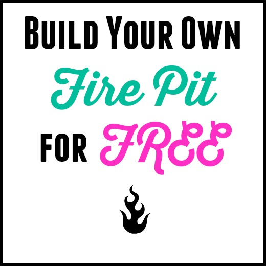Build Your Own Backyard Fire Pit Using Free Materials ...