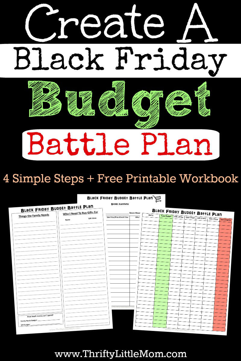 Create a Black Friday Budget Battle Plan