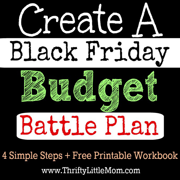 Create a Black Friday Budget Battle Plan