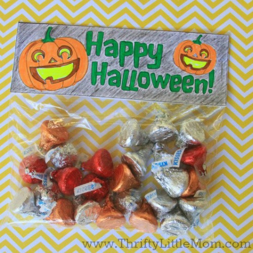 3 Free Printable Halloween Treat Bag Toppers