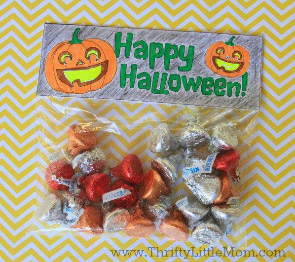 Free Printable Color Your Own Jack O Lantern Treat Bag Topper