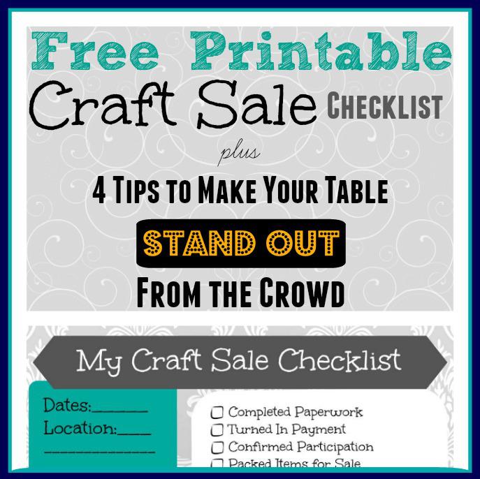 Free Printable Craft Sale Checklist
