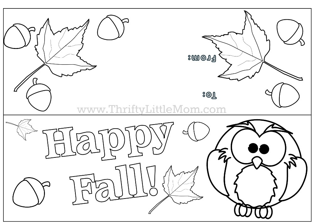 Free Printable Happy Fall Treat Bag Topper