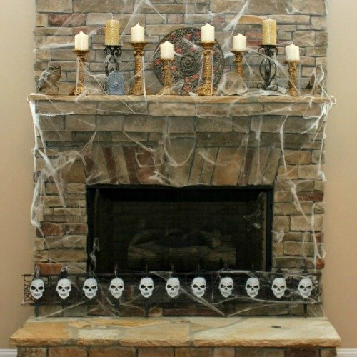 Thrifty Fall Mantel Decorations
