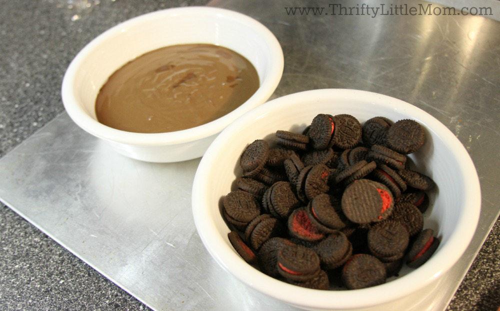 Chocolate Covered Mini Oreo Bites Supplies