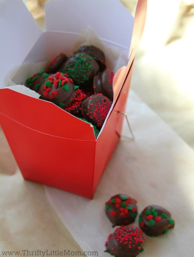 Chocolate Covered Mini Oreo Bites Take Out Box