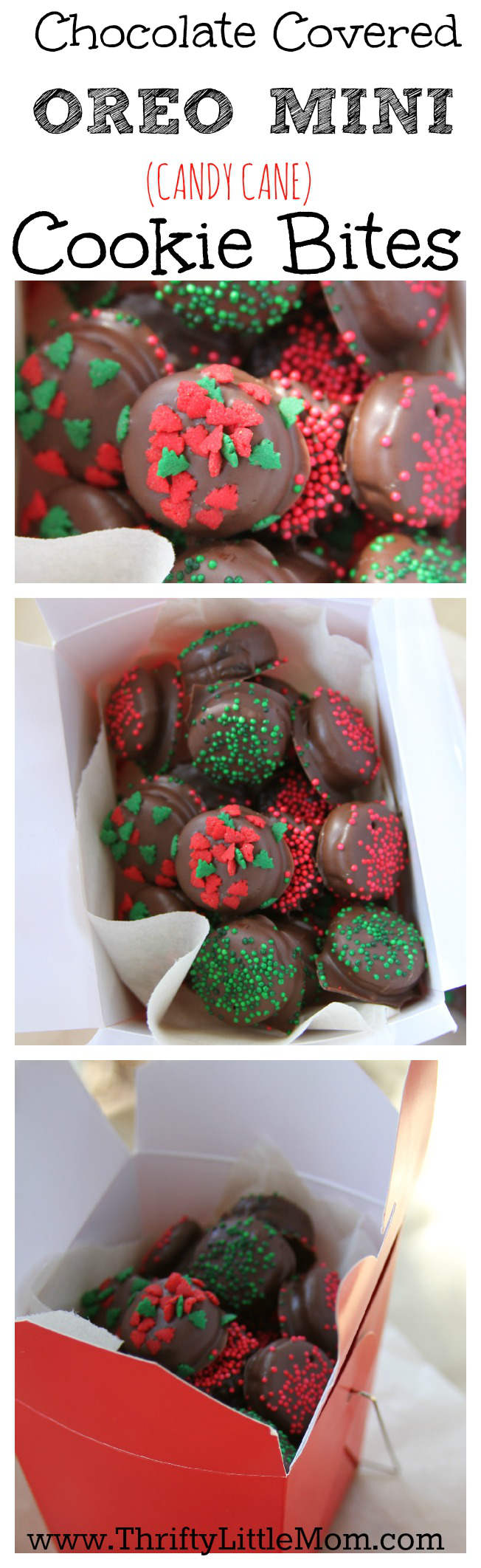 Chocolate Covered OREO mini cookie bites. Make these sweet bite size delights with your kids this holiday season. Chocolate provided by Chocoley.
