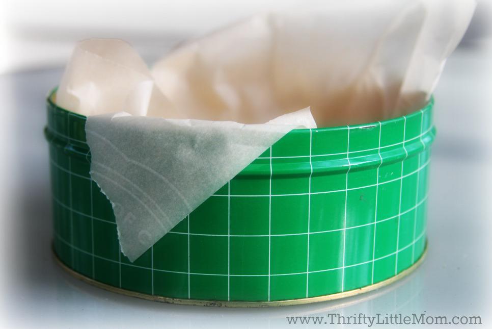 Green Cookie Tin