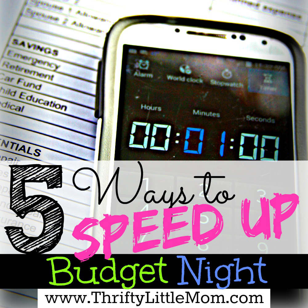 5 Ways to Speed Up Budget Night for your household
