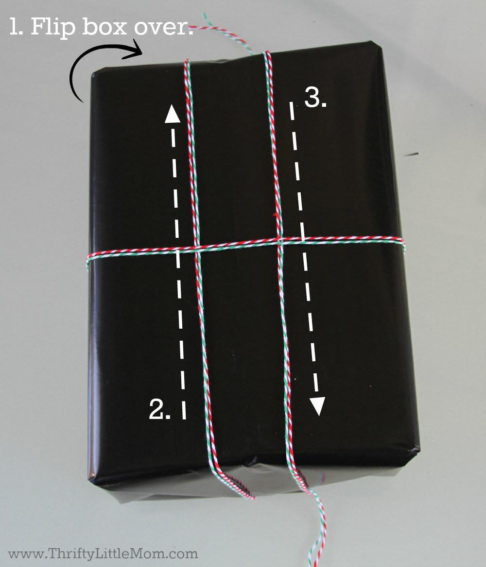 Chalkboard Gift Wrap Tutorial Box Top
