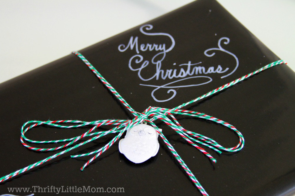 Chalkboard Gift Wrap Tutorial Finish