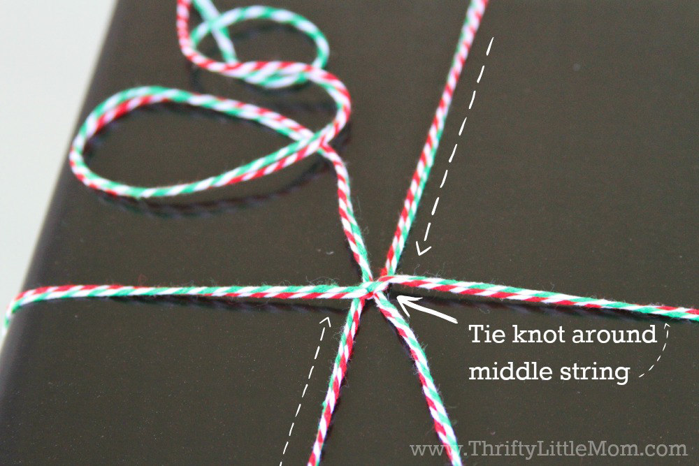 Chalkboard Gift Wrap Tutorial Knot