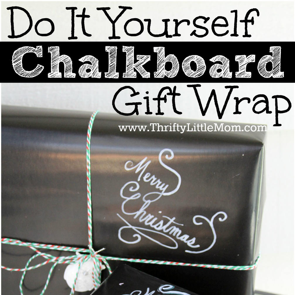 Do It Yourself Chalkboard Gift Wrap