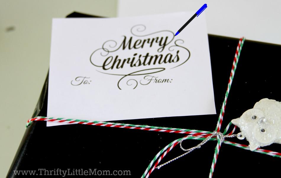Chalkboard Gift Wrap Tutorial Trace