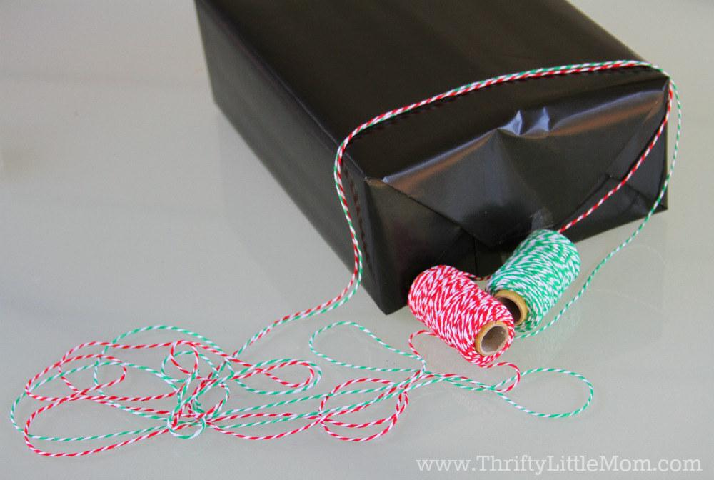 Chalkboard Gift Wrap Tutorial Twine String