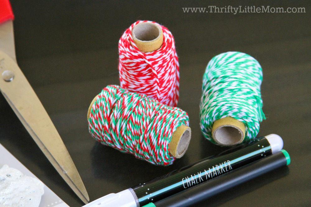 Chalkboard Gift Wrap Tutorial Twine