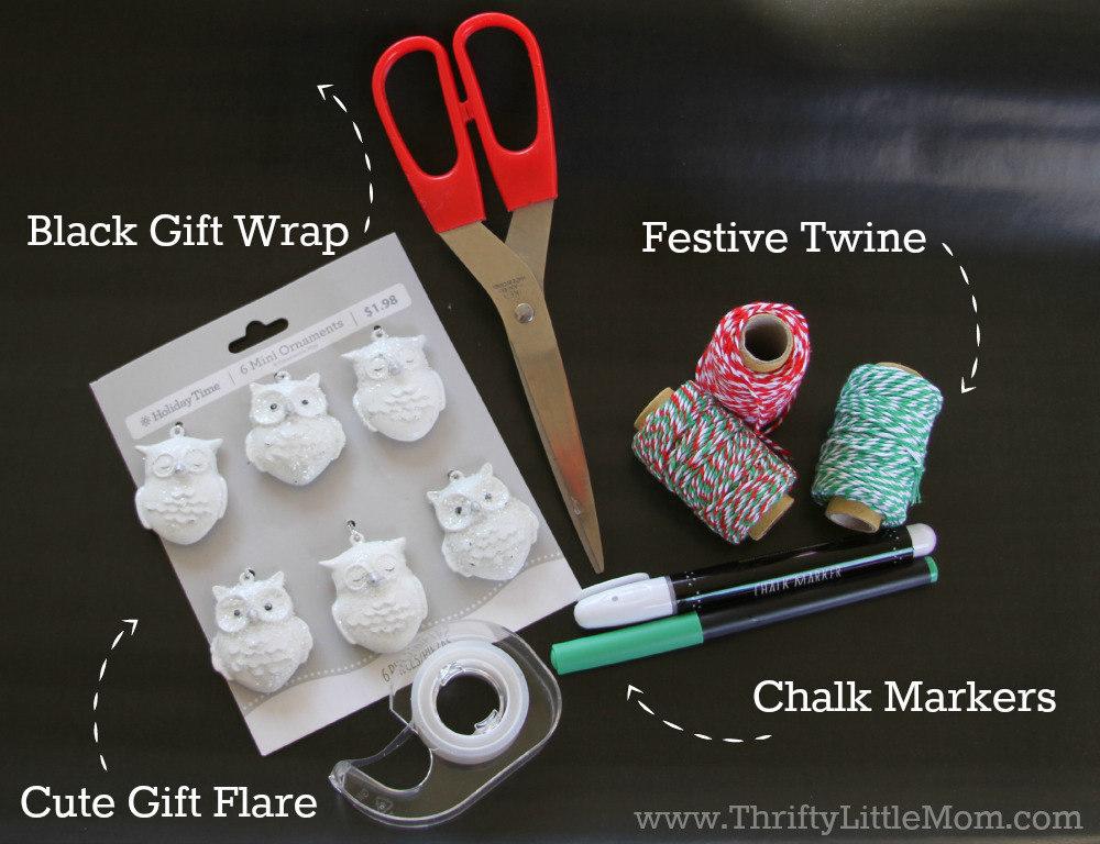 Chalkboard Gift Wrap Tutorial
