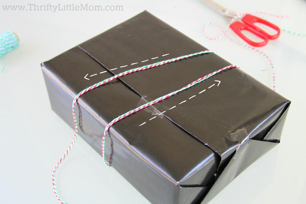 Chalkboard Gift Wrap step 1