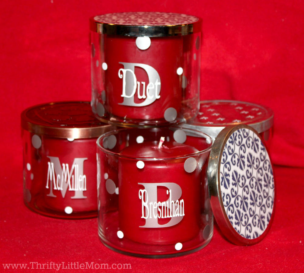How To Make Personalized Up Cycled Glass Candle Gifts
