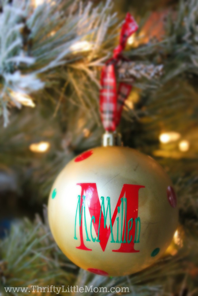 How To Make Personalized Vinyl Ornaments