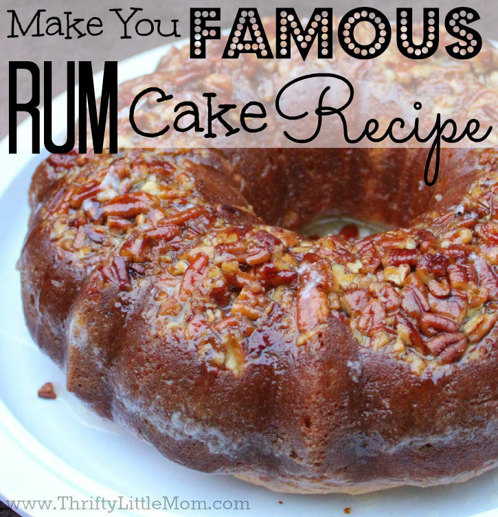 Make You Famous Rum Cake Recipe. The perfect cake to impress all your friends and neighbors with! Super easy to make!