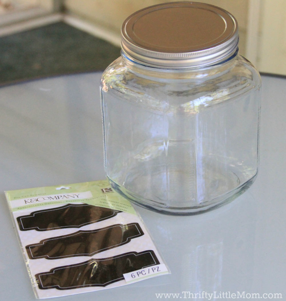 The Ultimate Chocolate Chip Cookie Gift Jar Supplies