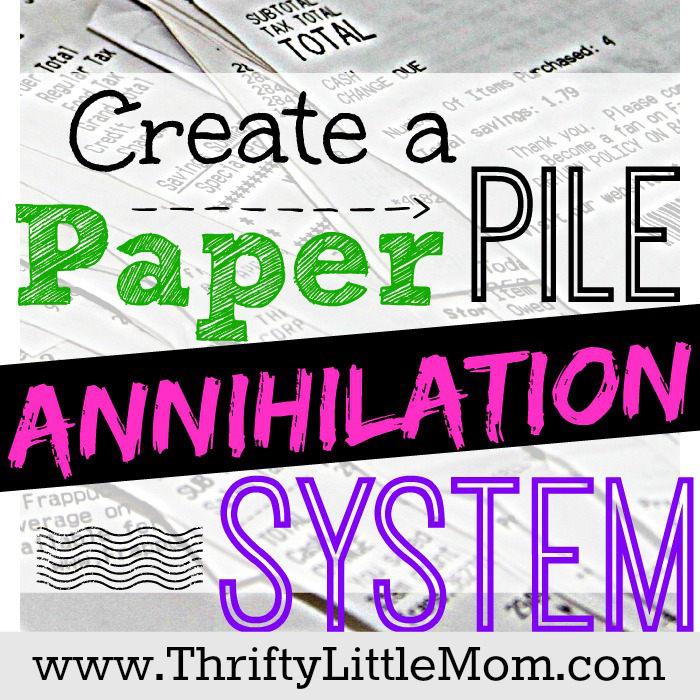 Create a Paper Pile Annihilation System