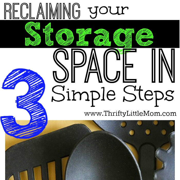 Reclaiming your storage spaces in 3 simple steps