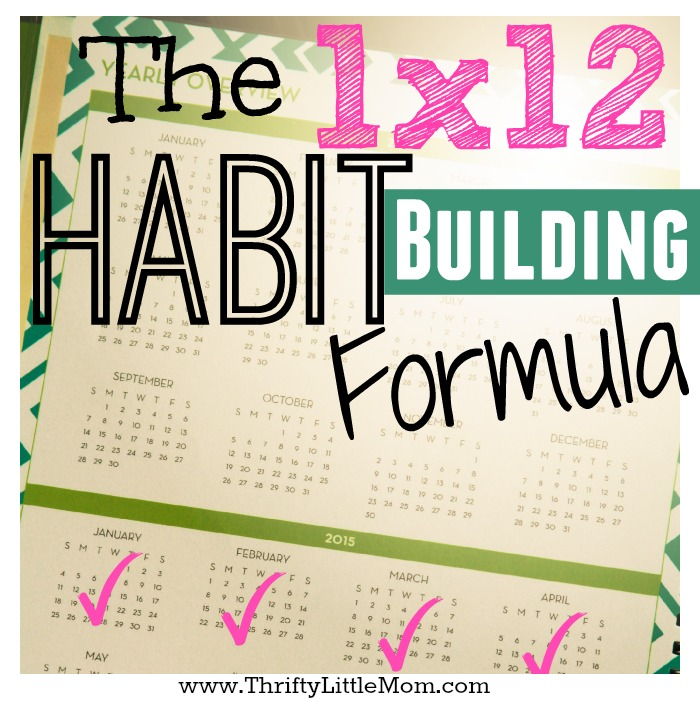 The 1×12 Habit Building Formula