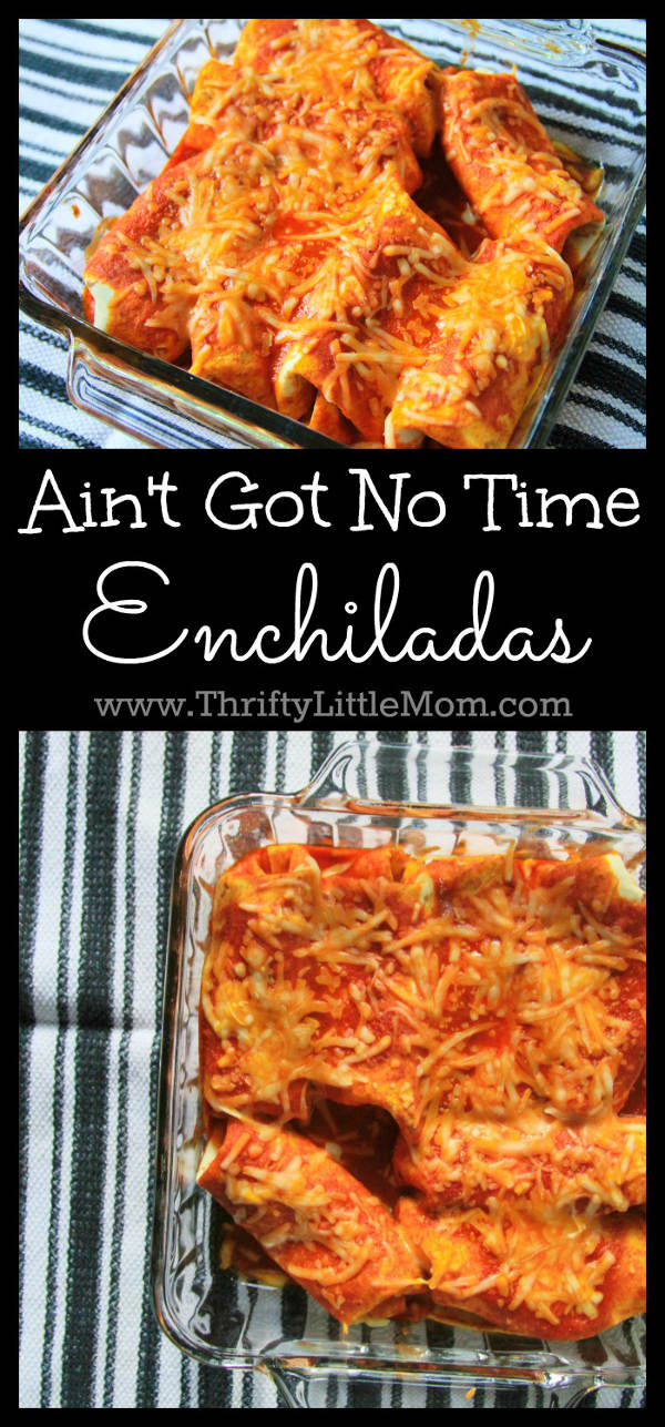 Ain't got no time Enchiladas recipe is perfect for a quick and healthy family dinner any night of the week.