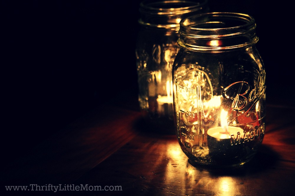 Candles in Ball Jars