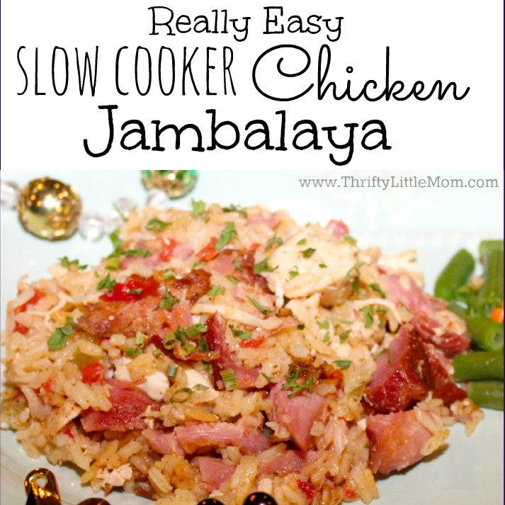 Really Easy Slow Cooker Chicken Jambalaya