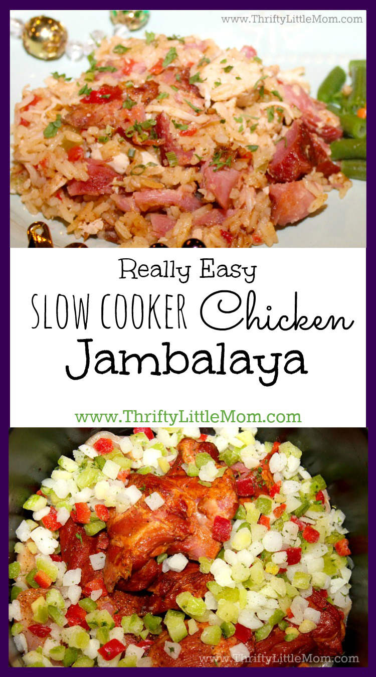 Really Easy Slow Cooker Chicken Jambalaya. Throw the ingredients in your slow cooker and you'll be on your way to an authenic Cajun meal in just a few hours.