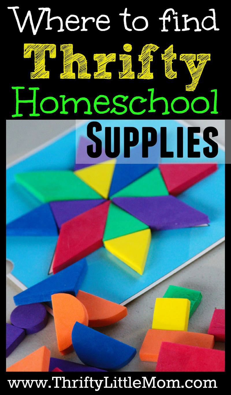 Where to find thrifty home school supplies