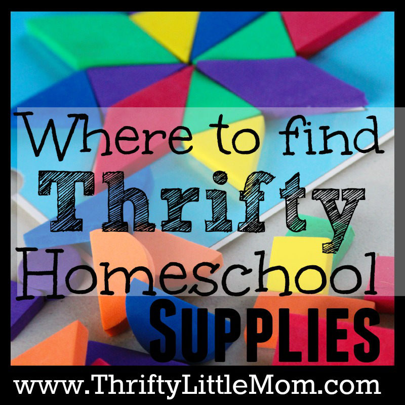 Where to Find Thrifty Homeschool Supplies