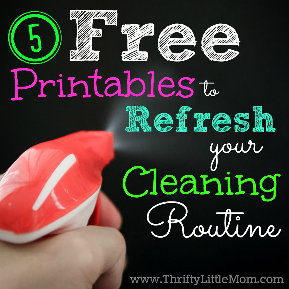 5 Free Printables to Refresh Your Cleaning Routine
