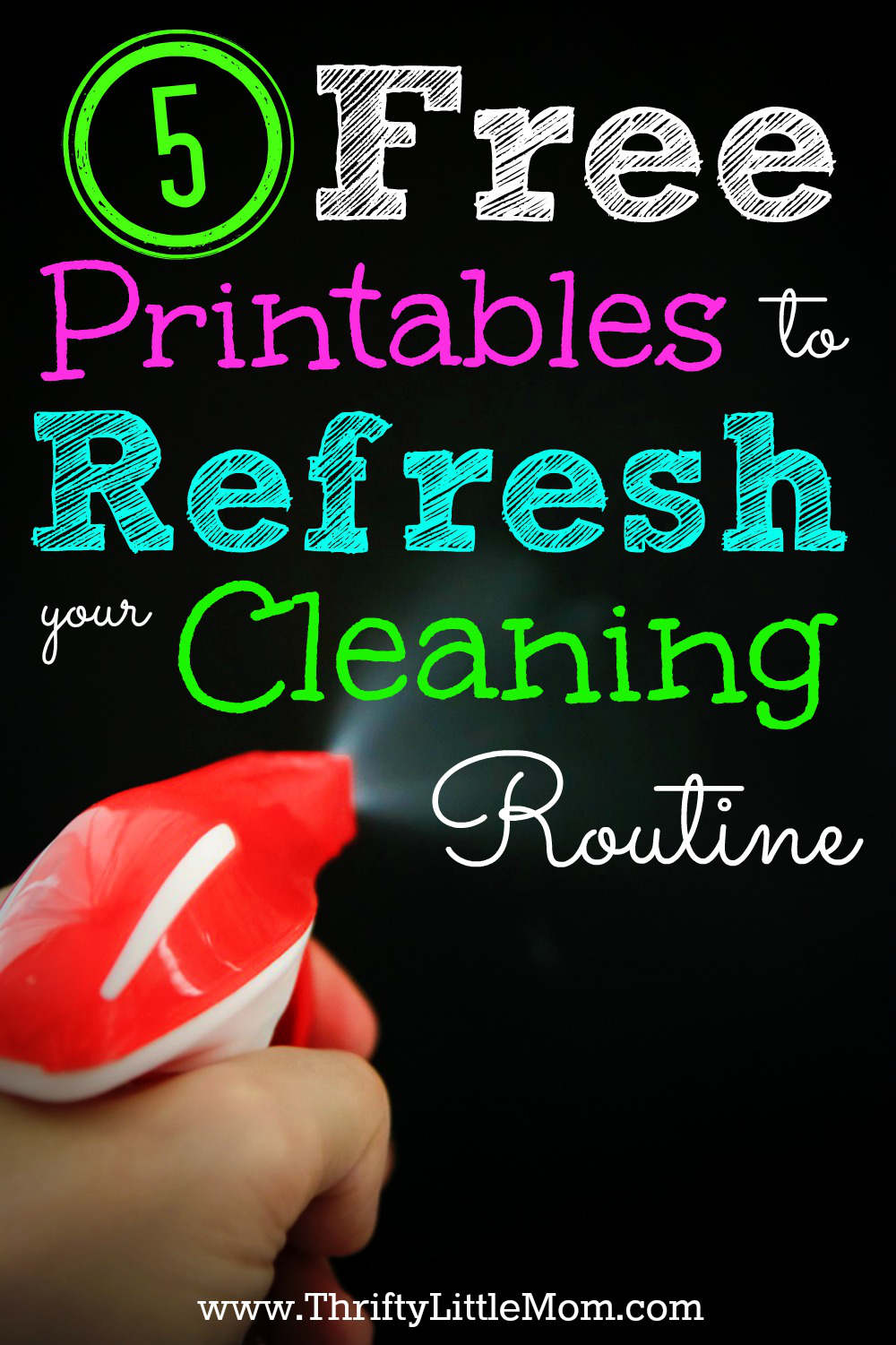 5 Free Printables to Refresh your cleaning routine. Get organized using your own home printer!