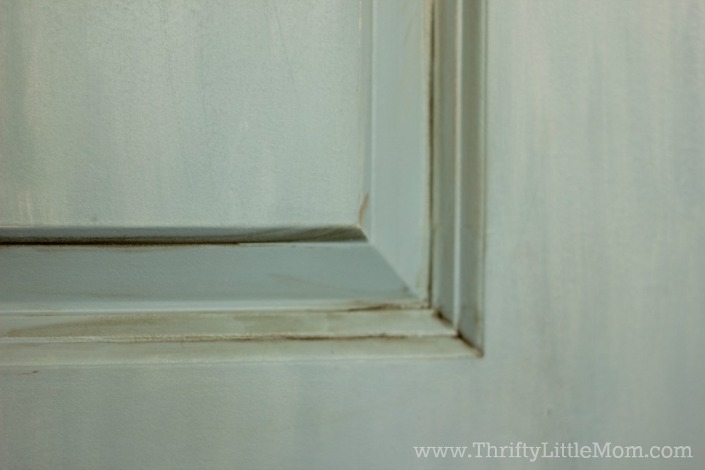 Pantry Door Brown Paint Application